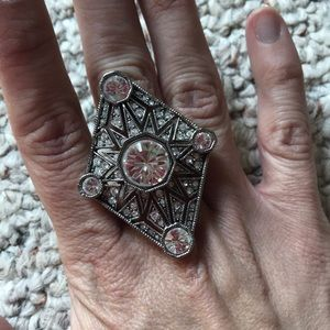 House of Harlow art deco ring size 8